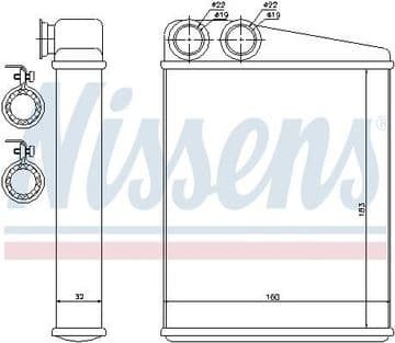 64113422666 70807 Nissens Heater Radiator MINI 06-